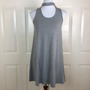Topshop Women's Solid Gray Sleeveless Dress Size 4